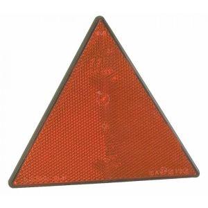 Catadiottro triangolare rosso fissaggio con fori